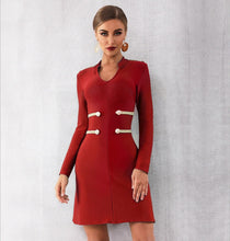 Load image into Gallery viewer, JANIS - Red Bandage Dress