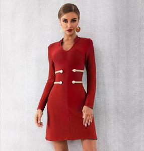 JANIS - Red Bandage Dress