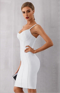 AMY - White Bandage Dress