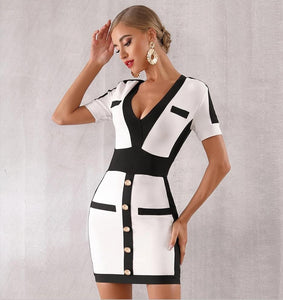 FRANCES - White Bandage Dress
