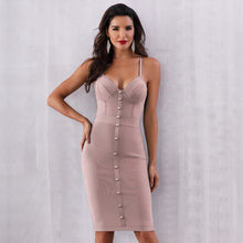 Load image into Gallery viewer, EVELYN -  Beige Bandage Dress