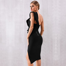 Load image into Gallery viewer, GRACE - Black Bandage Dress