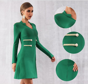 JANIS - Green Bandage Dress