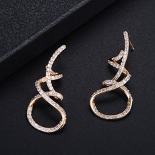 Load image into Gallery viewer, Luxury Winding Lines Geometry Zirconia Earring