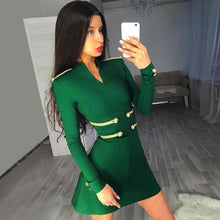 Load image into Gallery viewer, JANIS - Green Bandage Dress