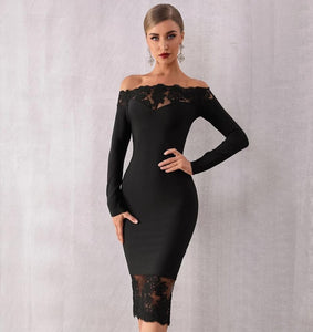 SOPHIE - Black Bandage Dress