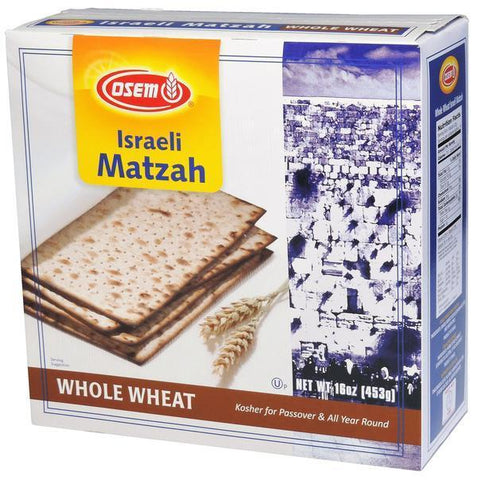 Osem Whole Wheat Matzah