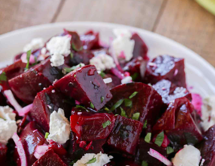 Beets and Goat Cheese Salad