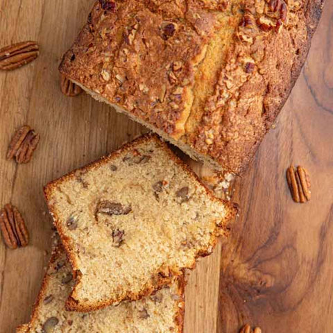 Coffee Pecan Loaf Cake
