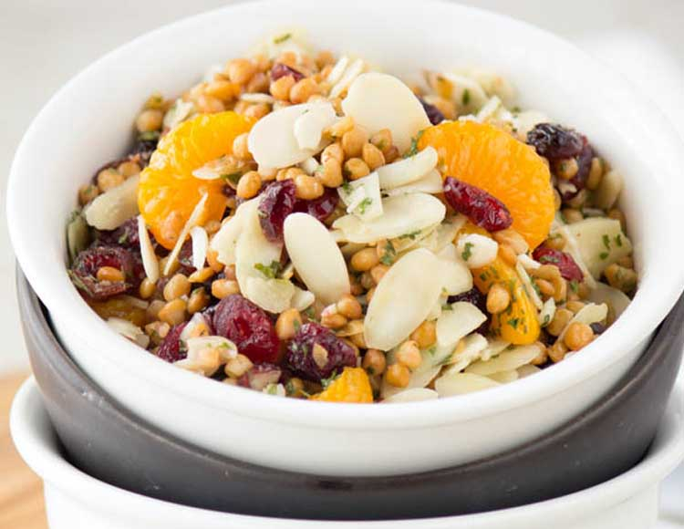 Lentils Mandarins and Almonds