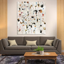 Load image into Gallery viewer, Original art for sale-Abstract expressive composition of color strokes and drips implying rain fall