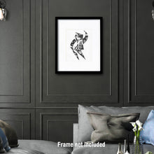Load image into Gallery viewer, Original art for sale. Imaginative drawing of a dancer.