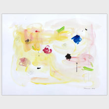 Load image into Gallery viewer, Original art for sale-Simplistic abstract painting depicting elements in a garden