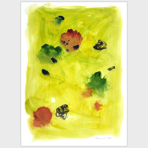 Original art for sale-Simplistic abstract painting depicting elements in a garden