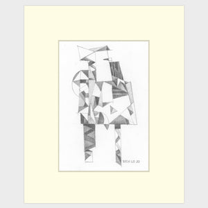 Original art for sale. Imaginative sketch of a n man standing.