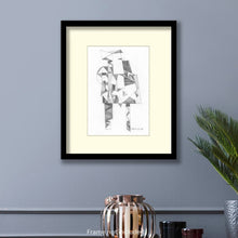 Load image into Gallery viewer, Original art for sale. Imaginative sketch of a n man standing.