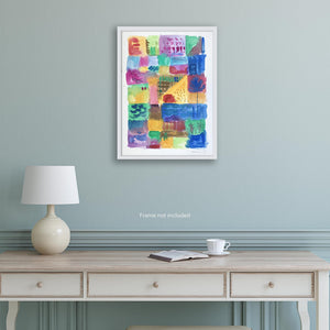 Original art for sale. Abstract landscape of a segregated society.
