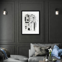 Load image into Gallery viewer, Original art for sale-Abstract compositions using large ink strokes and subtle washes