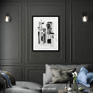 Original art for sale-Abstract compositions using large ink strokes and subtle washes