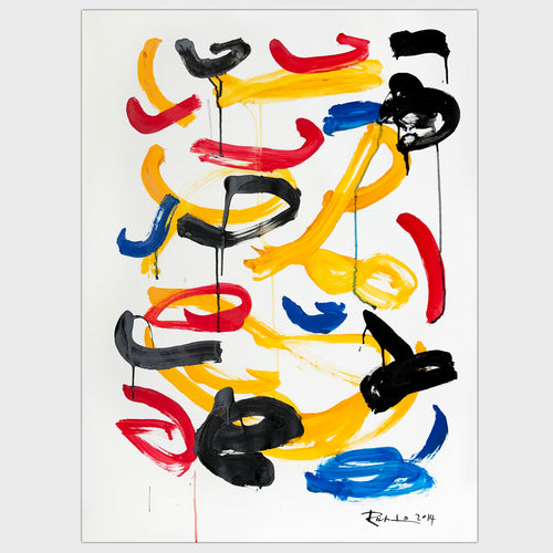 Original for sale-Spontaneous strokes in mixed colors and shapes