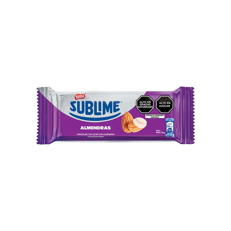 CHOCOLATE ALMENDRAS SUBLIME BARRA 50 GR