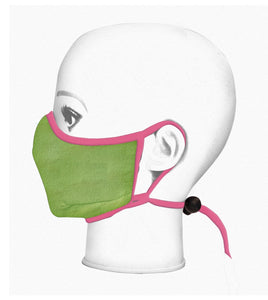 Youth Universal Reversible Mask - Waterlily Green / Pink