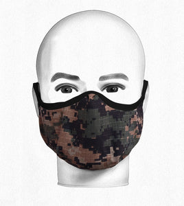 Youth Pattern Camo Mask