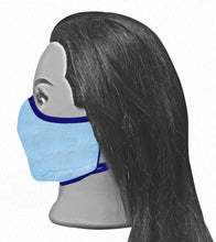 Load image into Gallery viewer, Universal Reversible Mask - Light Blue / Navy