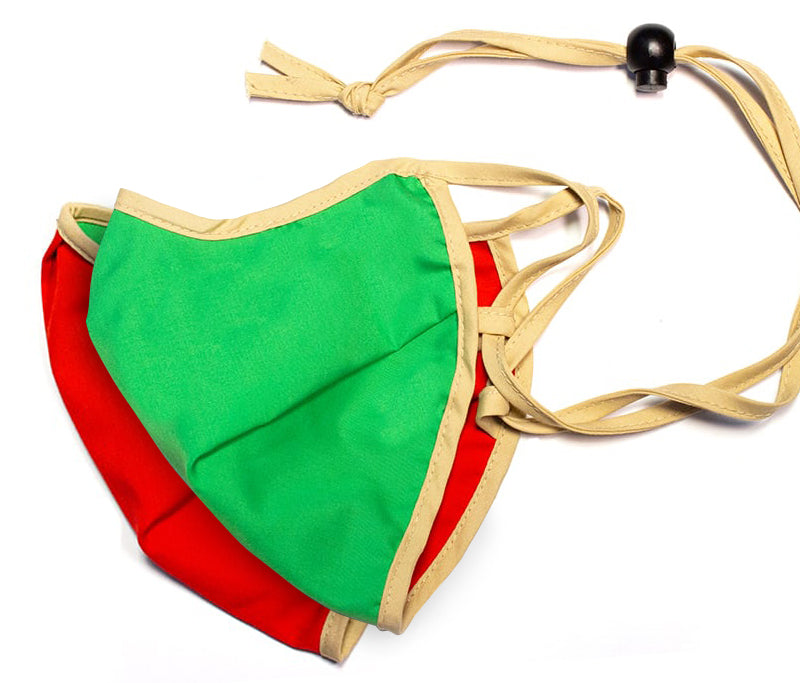 Universal Reversible Mask - Green / Red