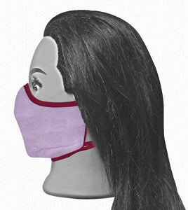Universal Reversible Mask - Raspberry / Wisteria