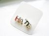 Hate word earrings studs silver color