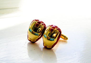 Iron Man Superhero Cufflinks - Golden Red color - 1 pair - BUY ONE GET 2 FREE - MIX AND MATCH