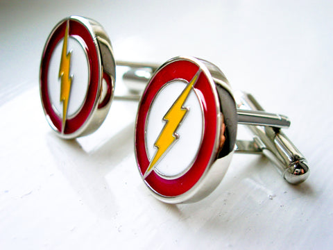 The Flash Cuff Links  - stainless steel - 1 pair - BUY ONE GET 2 FREE - MIX AND MATCH