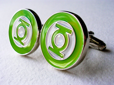 Green Lantern Cuff Links - Stainless steel - 1 pair - BUY ONE GET 2 FREE - MIX AND MATCH