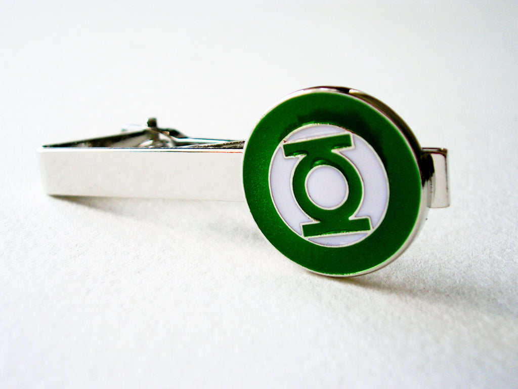 Green Lantern Tie Clip / Money clip  - stainless steel
