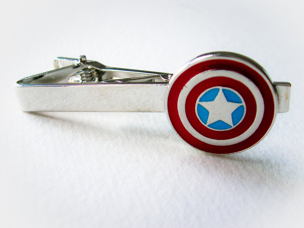 Captain America Tie Clip / Money clip  - stainless steel