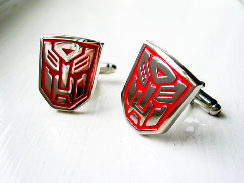 Transformers Cuff links Autobot  - 1 pair - BUY ONE GET 2 FREE - MIX AND MATCH