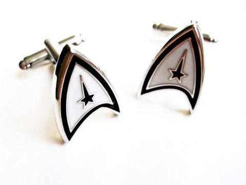 Star Trek Cuff Links - stainless steel - 1 pair