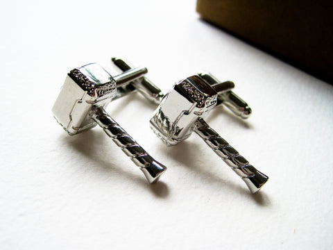 Thor Cuff Links - stainless steel - 1 pair - BUY ONE GET 2 FREE - MIX AND MATCH