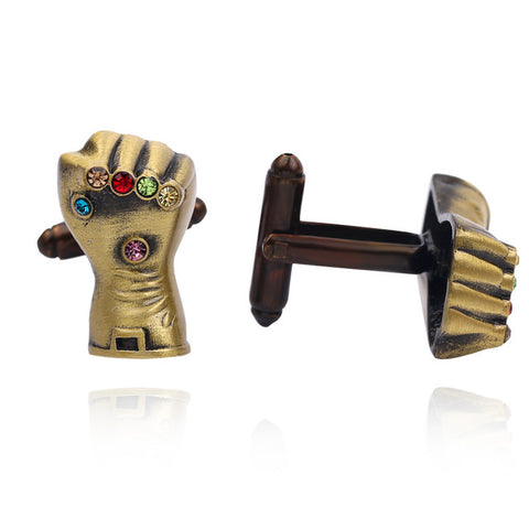 Thanos Gloves Cufflinks - stainless steel - 1 pair - BUY ONE GET 2 FREE - MIX AND MATCH