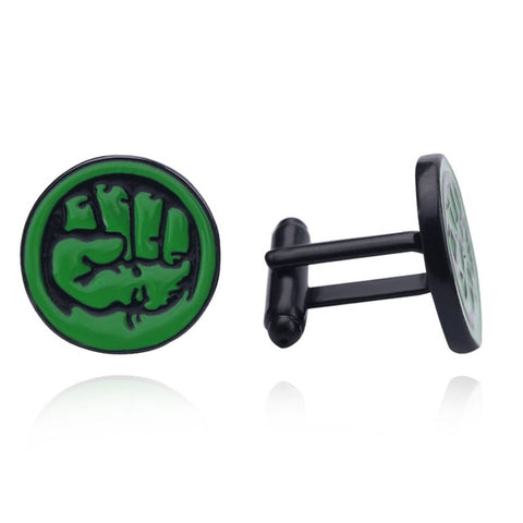 Hulk Cufflinks - stainless steel - 1 pair - BUY ONE GET 2 FREE - MIX AND MATCH