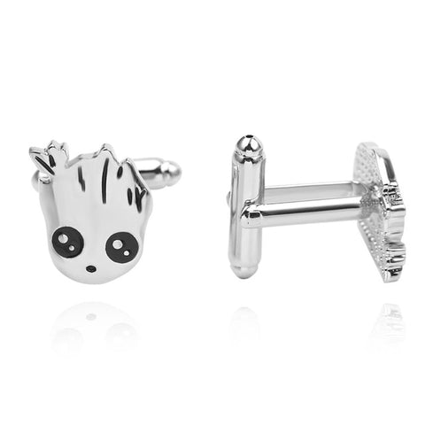 Groot Cufflinks - stainless steel - 1 pair - BUY ONE GET 2 FREE - MIX AND MATCH