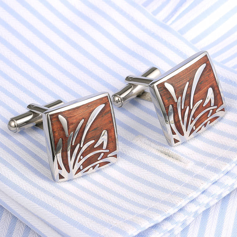 Contemporary Rosewood Cufflinks