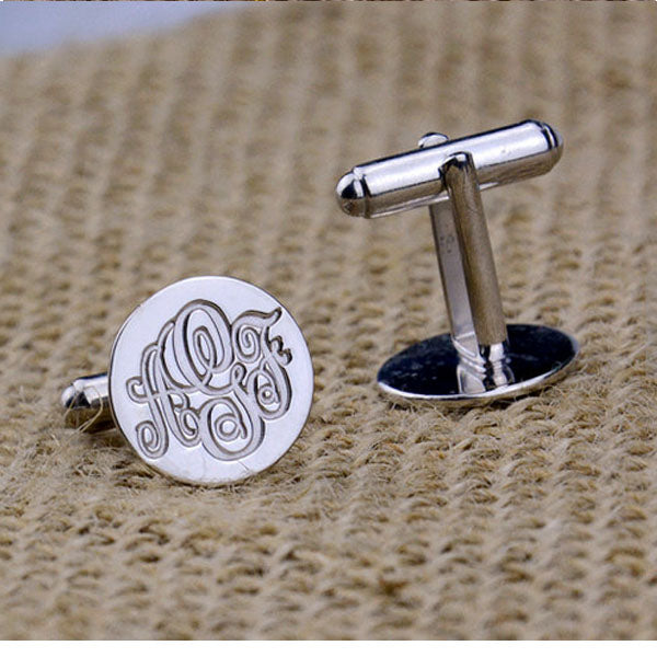 Custom Personalized Monogram Cufflinks