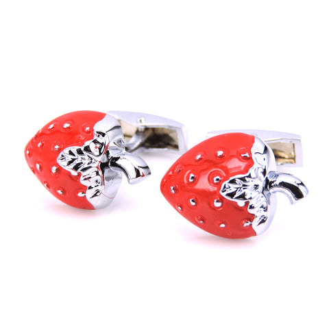 Red Strawberry novelty Cufflinks