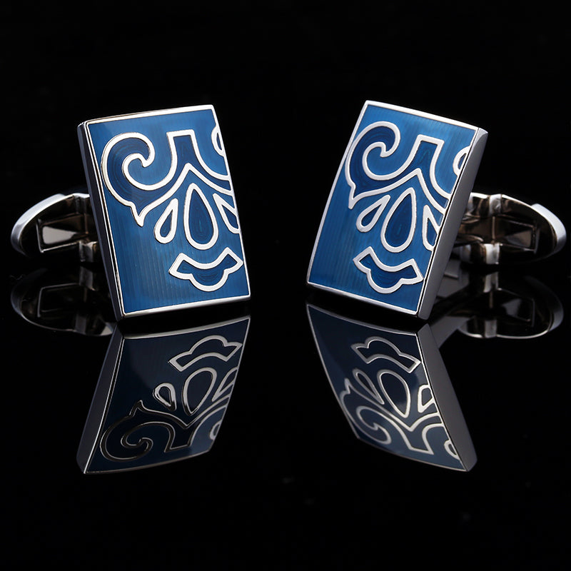 Elegant blue cufflinks