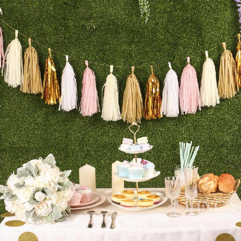 5Pcs 35cm Tissue Paper Tassels Wedding Decoration