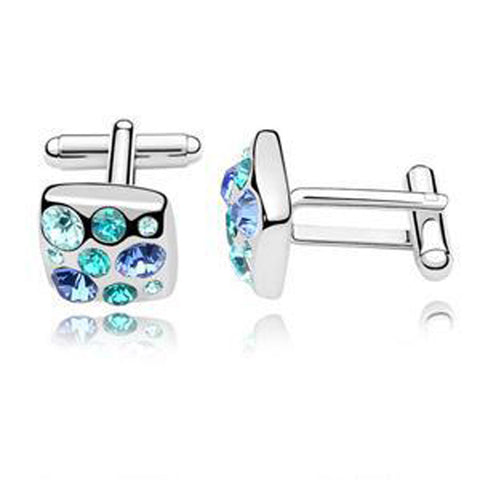 Crystal Shirt Elegant Cufflinks for Mens