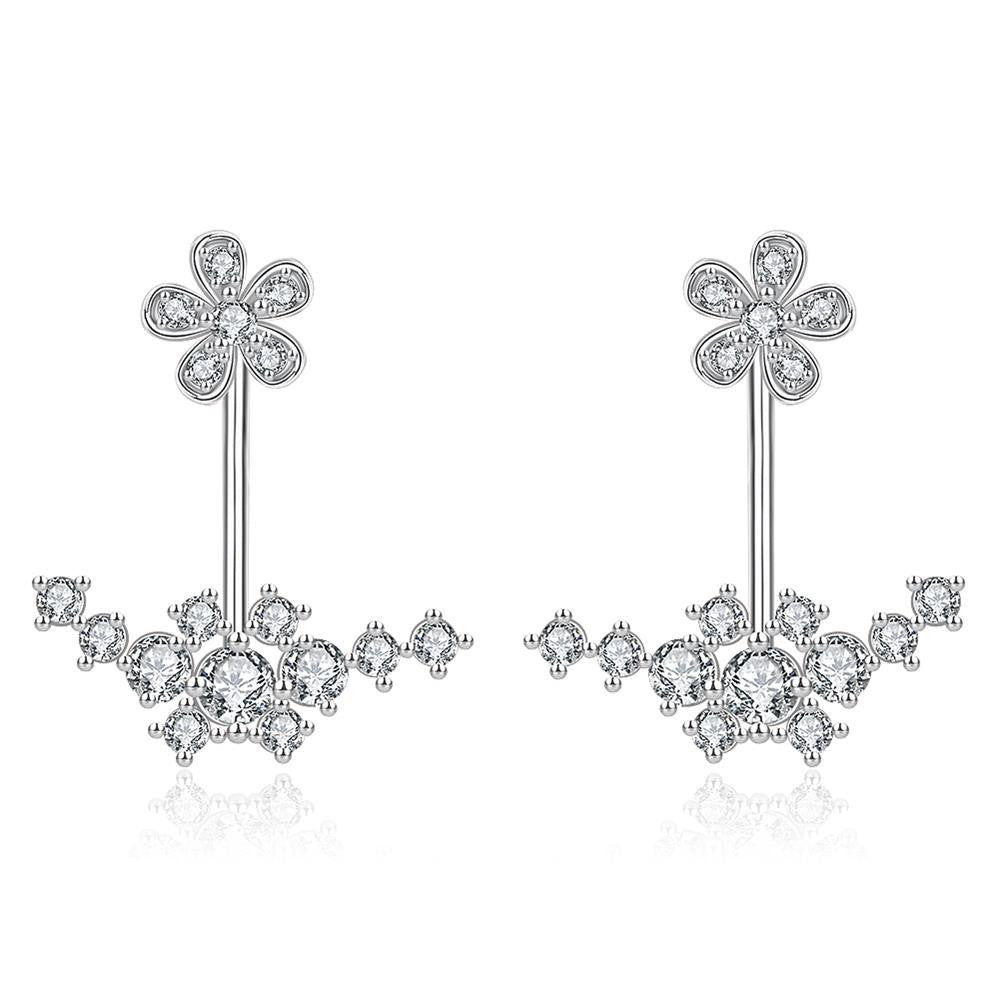 Classy White Gold Plated Earrings