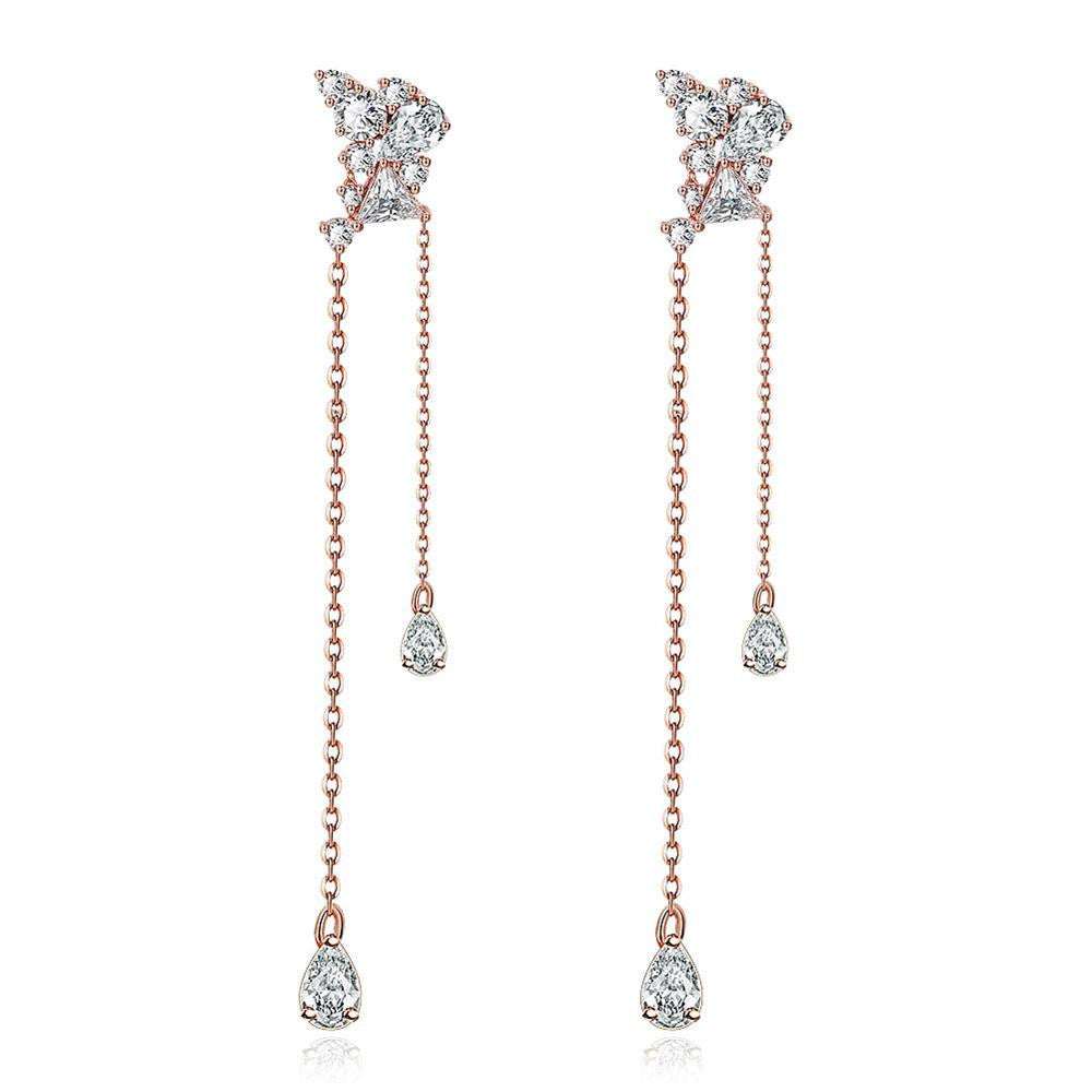 Rose Gold Plated Dangling Earrings